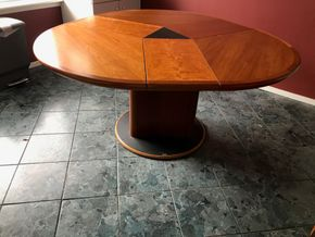 Lot 042 Skovby Wood Dining Room Table. 28.5H X 59W X 57.5L. PICK UP IN ROCKVILLE CENTRE.