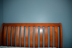 Lot 016 Wood Bed Frame Headboard 55.5H x 50W  83L  / Footboard 34H x 50W  approx.PICK UP IN MALVERNE,NY