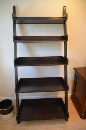 Lot 013 Wood Ladder Bookcase 72H x 31.75W x 18L  PICK UP IN GLEN COVE, NY