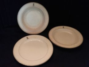 Lot 052 Lot of 2 Bowls and 1 Belleek Plate PICK UP IN ROCKVILLE CENTRE