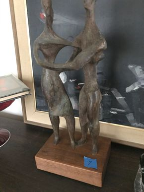 Lot 007 PU Modern Bronze Sculpture titled Anniversary Waltz by Philip Darling  Approx 15H  PICK UP IN RVC