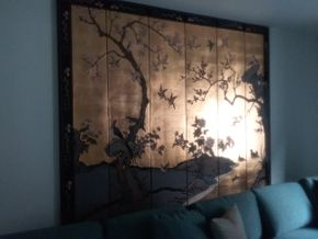 Lot 083 6 Panel Asian Screen 84 x 99 PICK UP IN OLD BROOKVILLE