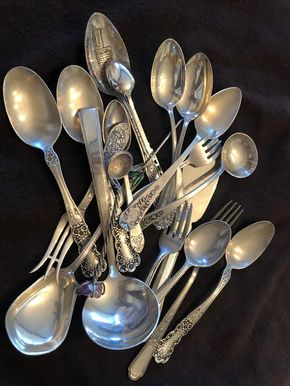 Lot 025 Lot Of Mixed pieces of some Sterling and Non-Sterling Silver Spoons PICK UP IN GARDEN CITY