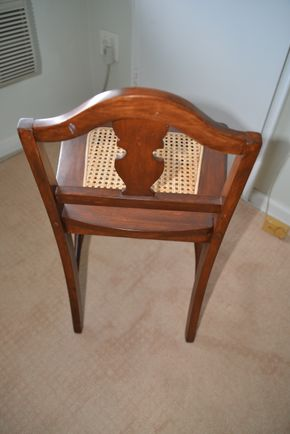 Lot 036 Wood Chair w/Cane Seat 29H x 16.875W x 15L PICK UP IN GLEN COVE, NY