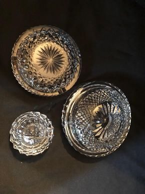 Lot 054 Lot Of 3 Waterford Ash Trays PICK UP IN GARDEN CITY
