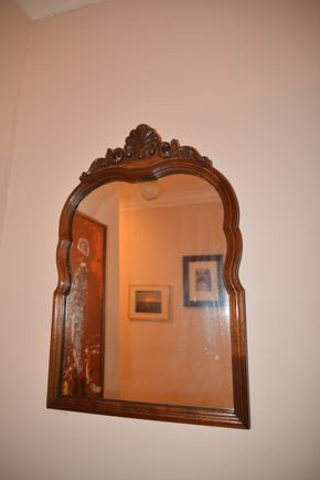 Lot 020 Wood Mirror 22.75H x 15.25W x 1.L PICK UP IN GLEN COVE, NY