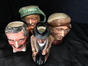 Lot 007 Lot of 4 Royal Doulton ITEMS MUST BE PICKED UP IN LONG BEACH
