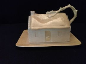Lot 084 Belleek Butter and Cheese Dish PICK UP IN ROCKVILLE CENTRE