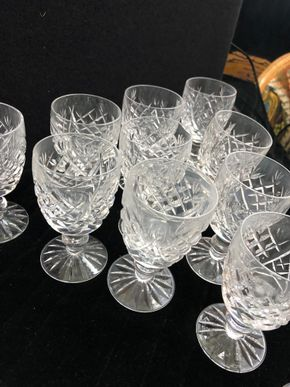 Lot 166 Lot of 11 Waterford Cordial Glasses - Donegal Pattern