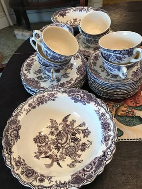 Lot 022 Bristol By Crown Ducal Dessert Set PICK UP IN LYNBROOK