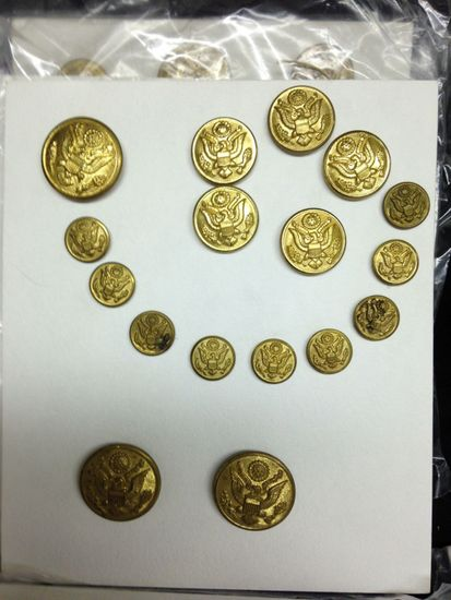 Lot 140 Large Lot Of Mainly Military Uniform Buttons 1800s